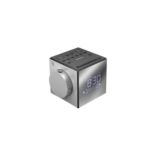 ICFC1PJ: Elegancki radiobudzik z tunerem cyfrowym AM/FM i funkcją projekcji godziny
