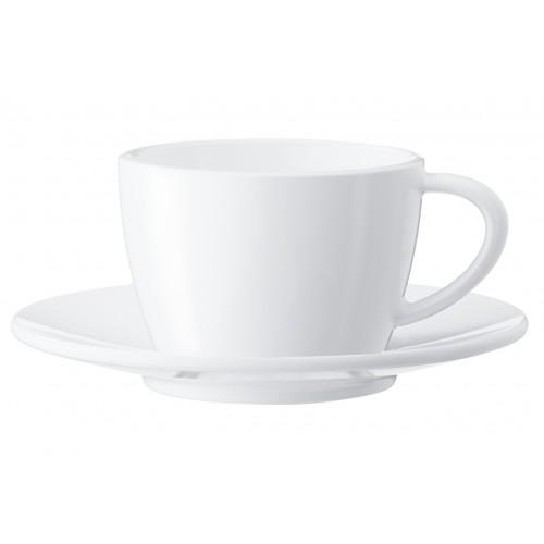 Zestaw porcelanowych filiżanek i spodków do cappuccino