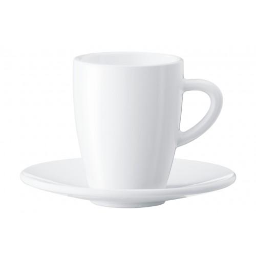 Zestaw porcelanowych filiżanek i spodków do espresso