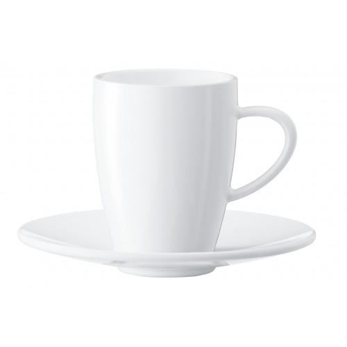 Zestaw porcelanowych filiżanek i spodków do kawy